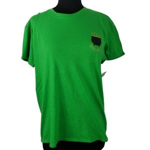 2/$20 City Streets T Shirt Stay Golden Green